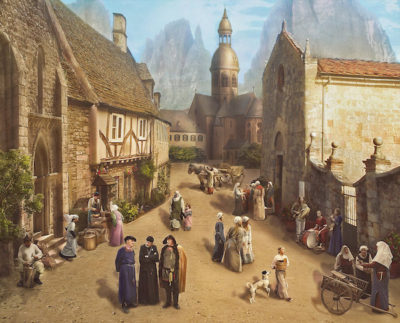 Medieval sunday in the village 1 400x323 - The growth of the cities